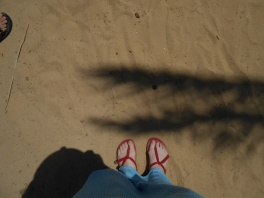 Obligatory shot of my feet on the sand.